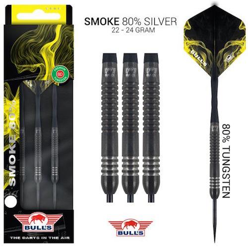 Steel Tip - Smoke 80% Silver - Bulls