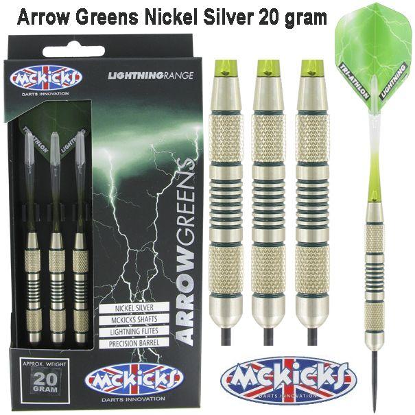 Steel Tip - MCKICKS - Arrow Greens Silver - 20gr