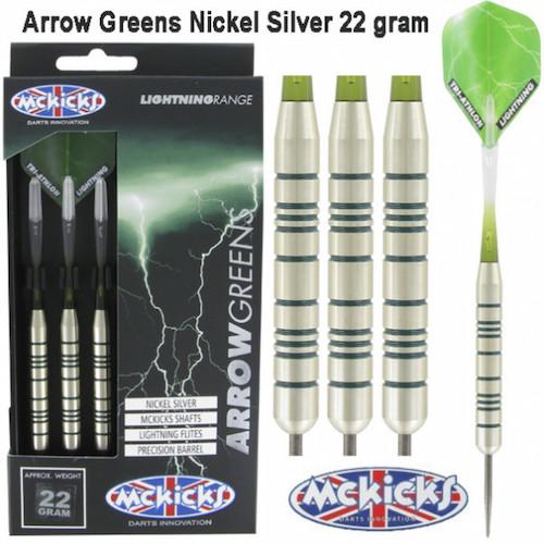 Steel Tip - MCKicks - Arrow Greens Silver - 22gr