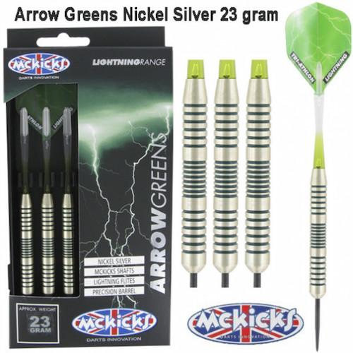 Steel Tip - MCKICKS - Arrow Greens Silver - 23gr