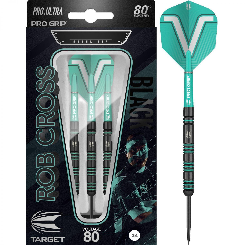 Steel Tip - Target - Rob Cross Black 80% - 24gr