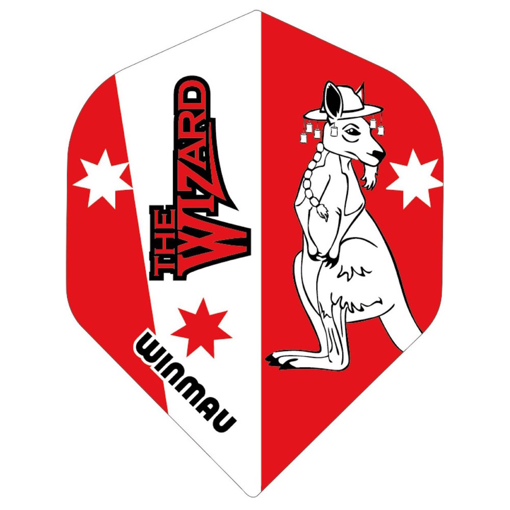 Winmau Rhino Simon Whitlock Red Transparant - 100micron