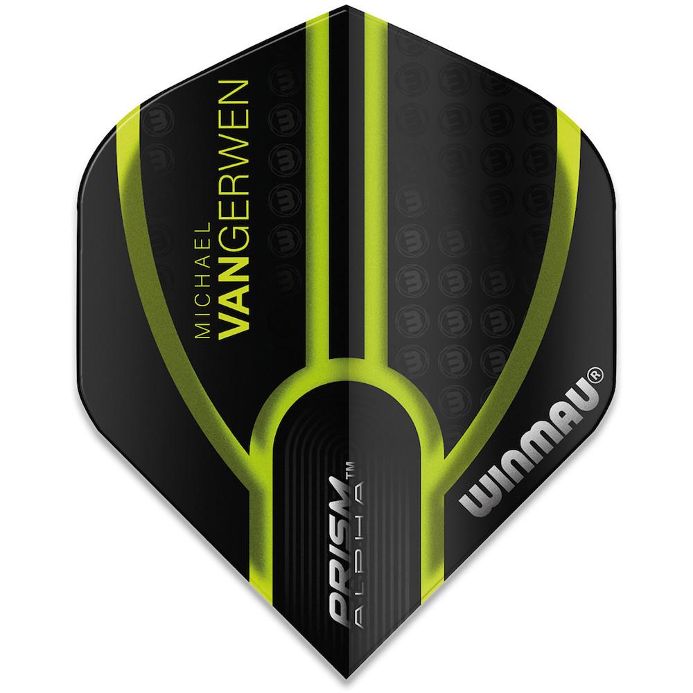 Winmau Michael Van Gerwen Prism Alpha Black Green Flight