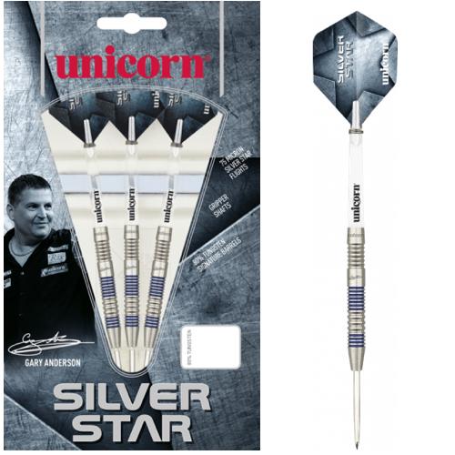 Steel Tip - Silver Star 80% Gary Anderson P2 - Unicorn