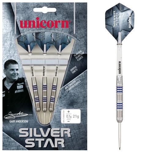 Steel Tip - Silver Star 80% Gary Anderson P4 - Unicorn