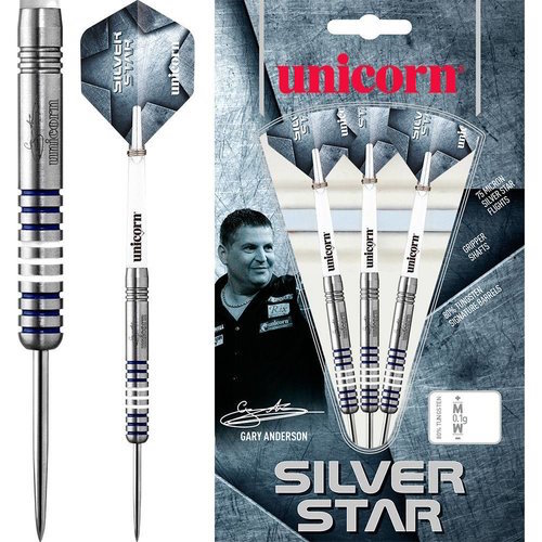 Steel Tip - Silver Star 80% Gary Anderson P1 - Unicorn