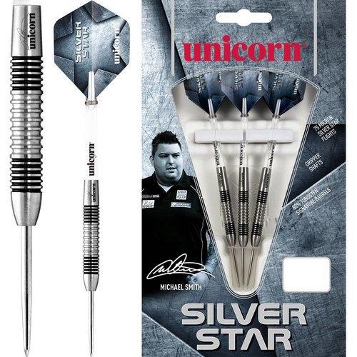 Steel tip - silver star Michael Smith 80% - unicorn