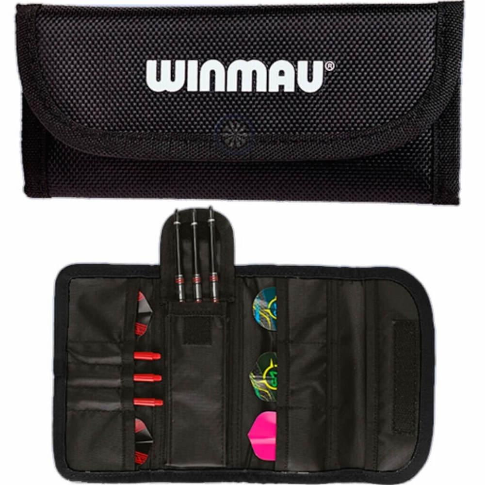 Winmau Tri-Fold Dart Wallet Black-Black