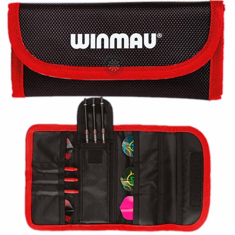 Winmau Tri-Fold Dart Wallet Black-Red